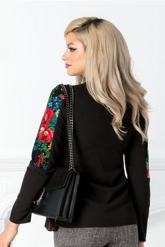 Bluza Moze neagra cu motive traditionale