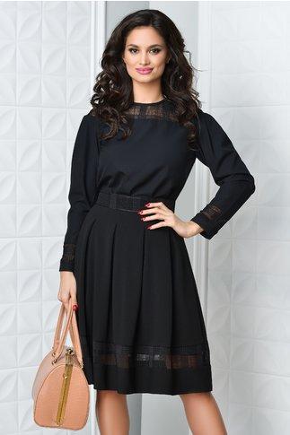 Bluza Moze neagra cu transparente