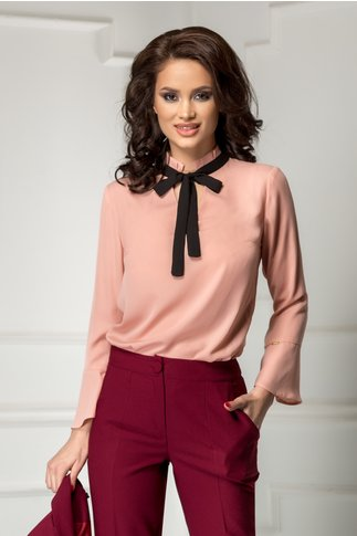 Bluza Moze Olive roz office cu funda