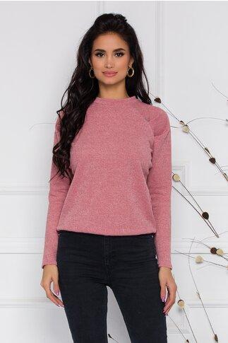 Bluza Moze roz din jerse
