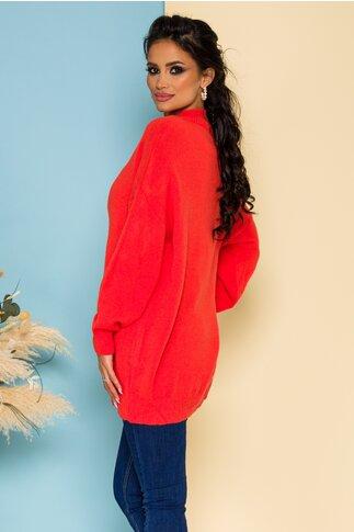 Bluza Nadia lunga tricotata corai