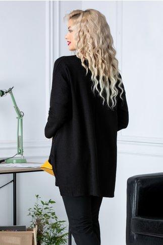 Bluza Natalee neagra cu insertie fluture la bust
