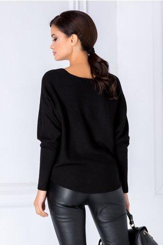 Bluza neagra cu bufnita cu strasuri