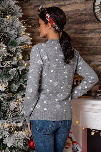 Bluza Olaf gri cu imprimeu de iarna