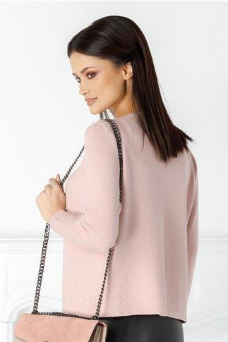 Bluza Pamy roz cu perlute pe fata