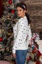Bluza Penguin alba cu imprimeu de iarna