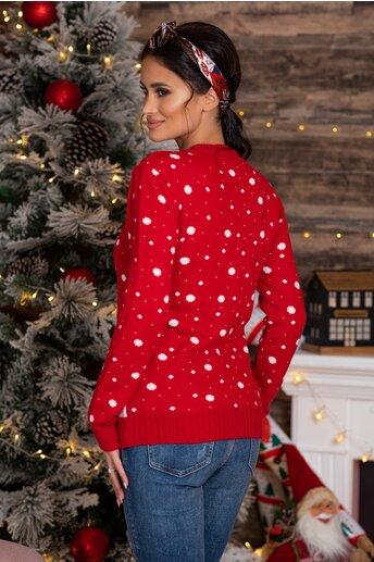 Bluza Penguin rosie cu imprimeu de iarna