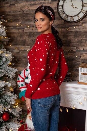 Bluza Polar Bear rosie cu imprimeu de iarna