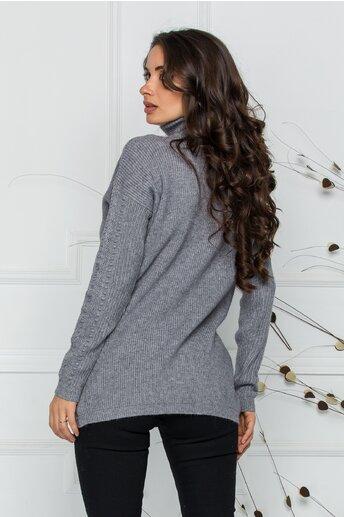 Bluza Ramona gri din tricot