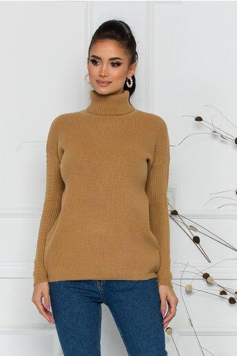 Bluza Ramona maro deschis din tricot