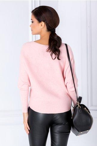 Bluza roz cu bufnita din strasuri