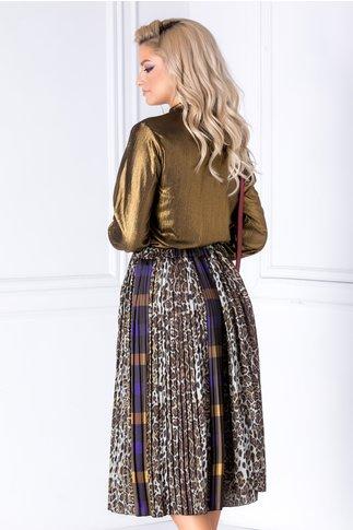 Bluza Sara din lurex auriu