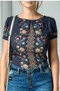 Bluza Savin bleumarin cu imprimeu