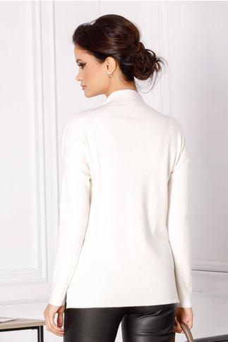 Bluza Selena alba cu perlute