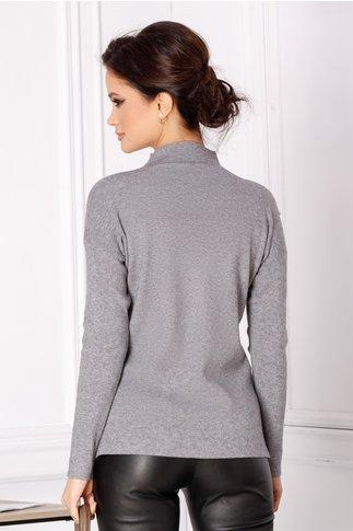 Bluza Selena gri cu perlute