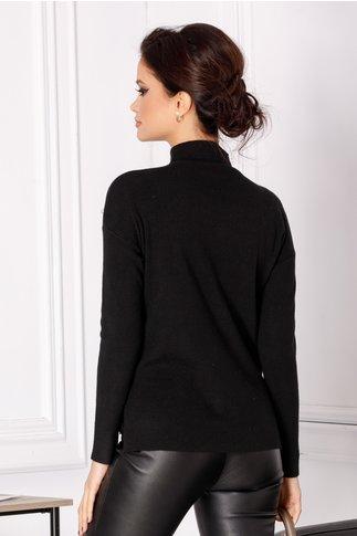 Bluza Selena neagra cu perlute