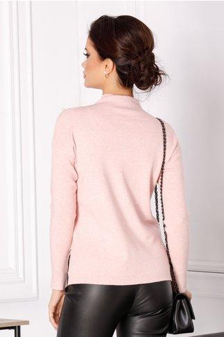 Bluza Selena roz cu perlute