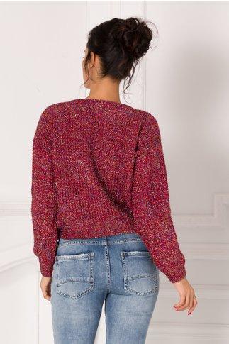 Bluza Shine magenta cu insertii multicolore stralucitoare