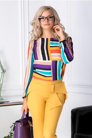 Bluza Vyvyana cu dungi colorate