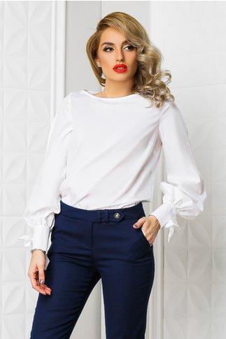 Bluza Xara Arabela alba din poplin