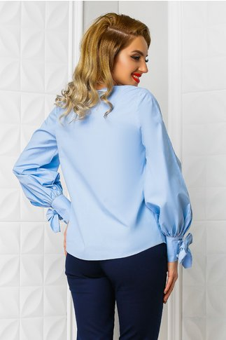 Bluza Xara Arabela bleu din poplin