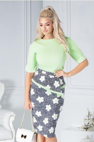 Bluza Fofy Yrene verde eleganta