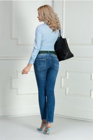 Camasa Corina bleu office eleganta