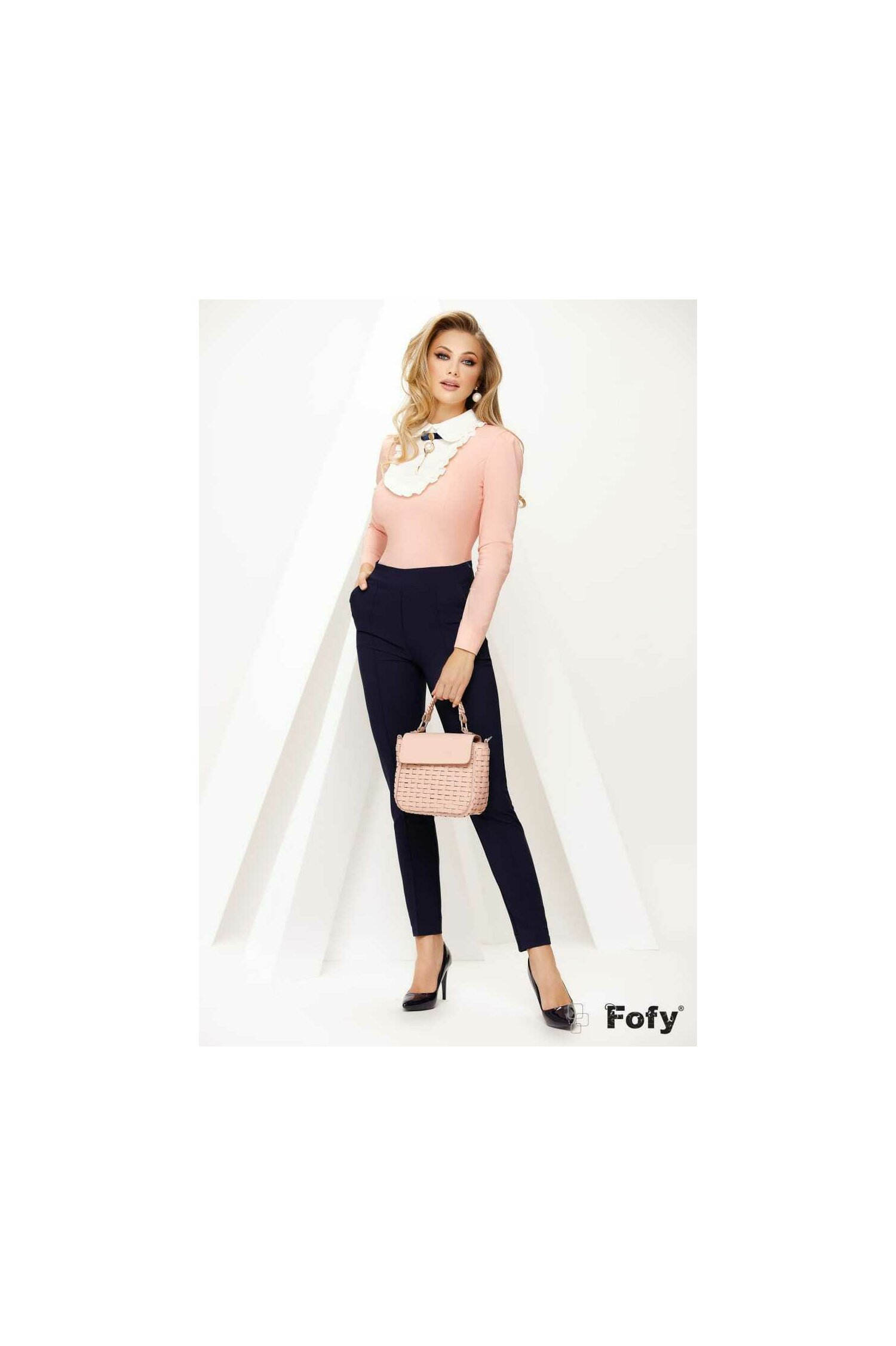 Camasa de dama Fofy roz cu platca imagine