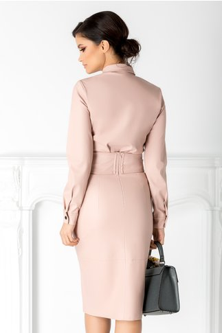 Camasa Lola roz pal din piele ecologica