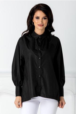 Camasa neagra cu design deosebit la spate