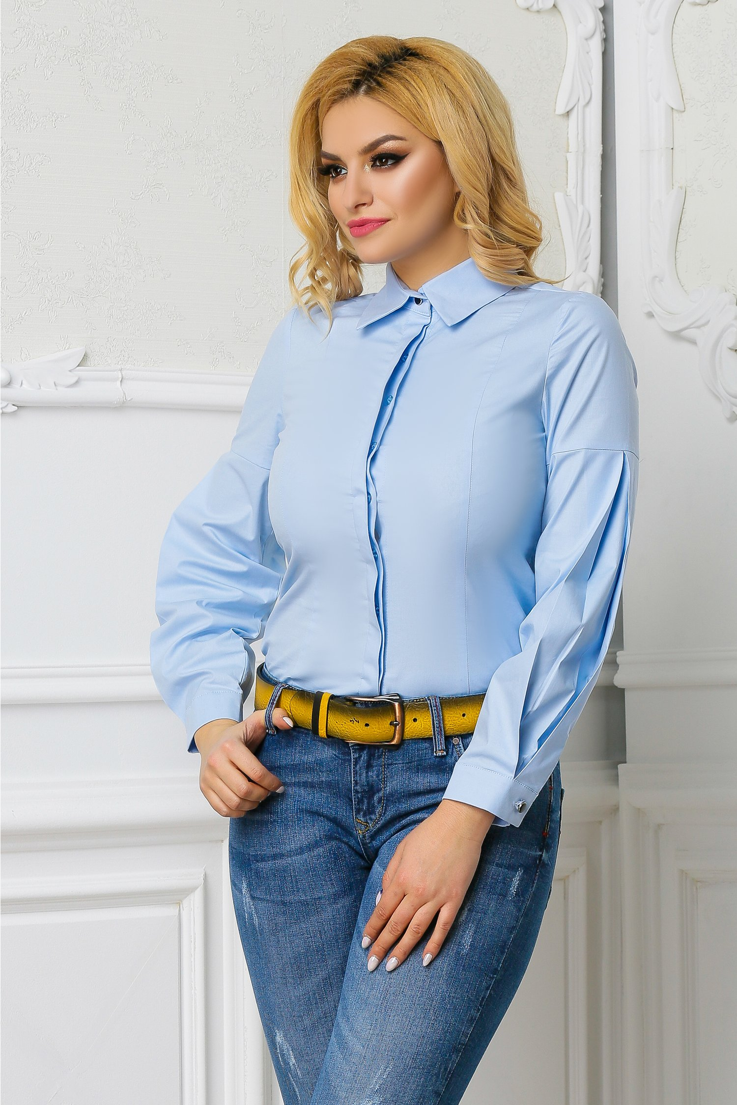 Camasa Neonela bleu office eleganta