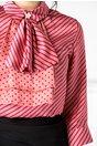 Camasa roz cu dungi si buline mov