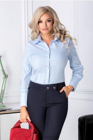 Camasa Ruxy bleu cu nasturi argintii