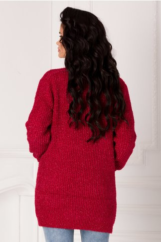 Cardigan Betty bordo cu insertii din lurex