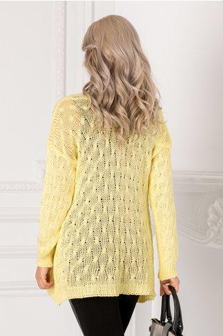 Cardigan galben tricotat