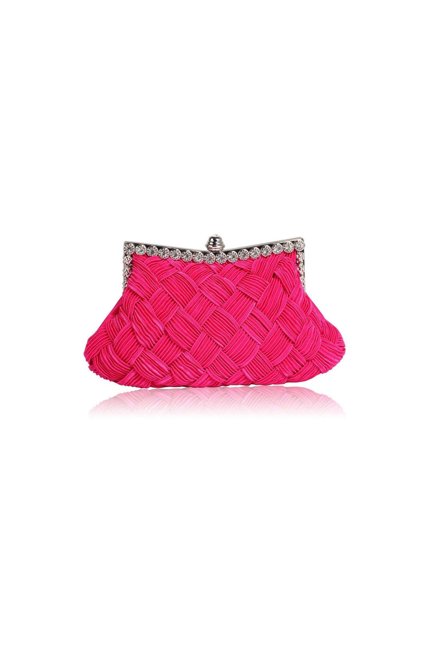 Clutch Crystal fucsia