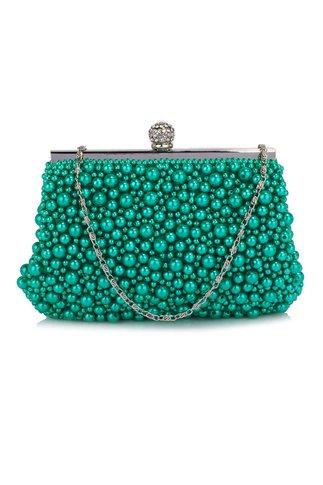 Clutch Melia Turcoaz Din Perle