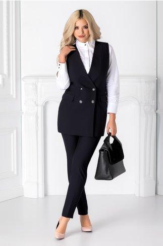 Compleu Delicia bleumarin cu pantaloni si vesta