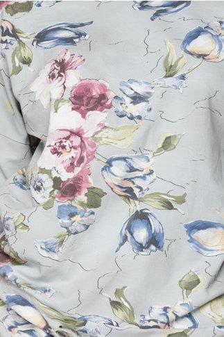 Compleu gri cu imprimeu floral pastelat