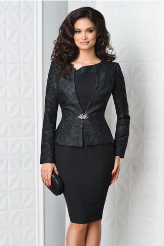Compleu Idis de ocazie negru rochie sacou