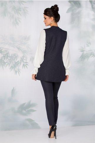 Compleu Kanya bleumarin cu vesta si pantaloni