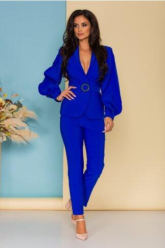 Compleu LaDonna by Catalin Botezatu albastru cu sacou si pantaloni