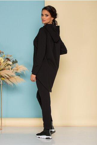 Compleu Ladonna by Catalin Botezatu negru cu bluza asimetrica