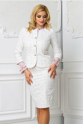 Compleu Leonard Collection alb de ocazie elegant