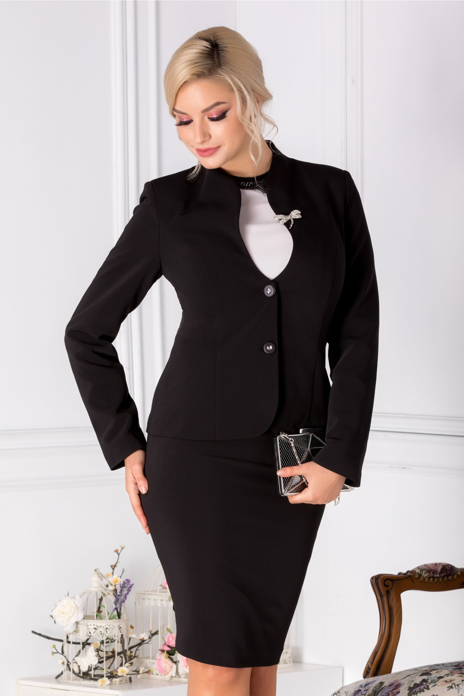 Compleu Leonard Collection negru elegant