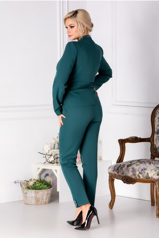 Compleu Leonard Collection verde sacou si pantaloni