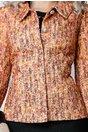 Compleu Lia oranj rochie sacou elegant din 2 piese