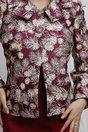 Compleu Medea grena rochie sacou