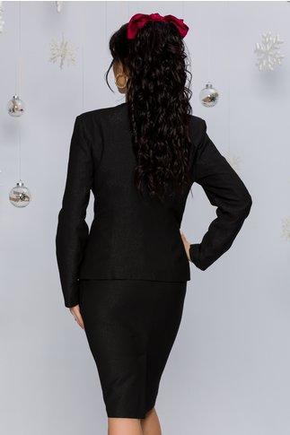 Compleu Naomi negru cu imprimeu floral auriu