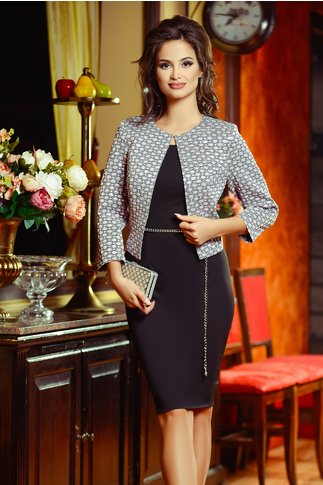 Compleu Nidia Rochie Sacou Roz in Hexagon